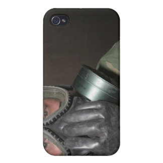 A Marine clears his gas mask iPhone 4/4S Case