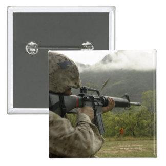 A Marine conducts drills 15 Cm Square Badge