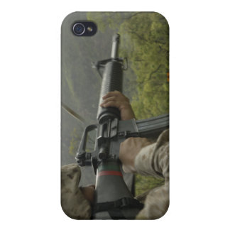 A Marine conducts drills Case For The iPhone 4