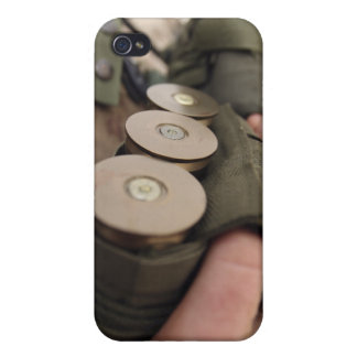 A Marine cradles handfuls of 40 mm grenades Case For iPhone 4