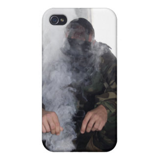 A marine fills the gas chamber with more CS gas Cover For iPhone 4