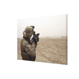 A Marine fires the M-32 Canvas Print