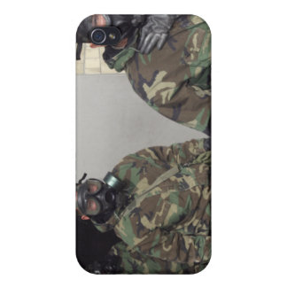A Marine holds his chest displaying relief iPhone 4/4S Case