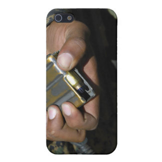 A Marine loads blank ammunition rounds iPhone 5 Covers
