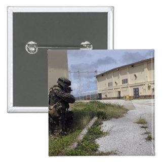 A Marine posts security 15 Cm Square Badge