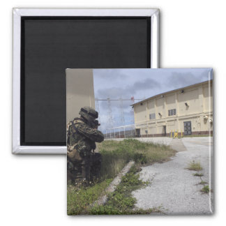 A Marine posts security Magnet