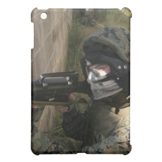 A Marine provides security iPad Mini Cover