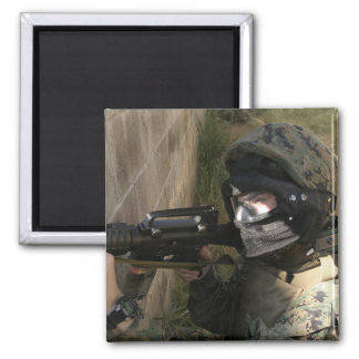 A Marine provides security Magnet