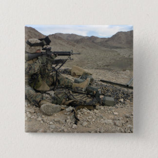A Marine rifleman provides security 15 Cm Square Badge