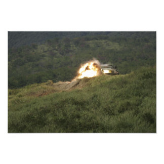 A Marine scores a direct hit Photo Print