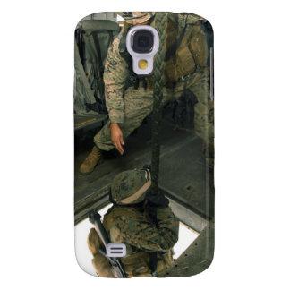 A Marine sends a fellow Marine down the hell ho Galaxy S4 Case