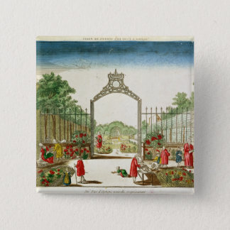 A Market Garden at One of the Gates of Paris 15 Cm Square Badge