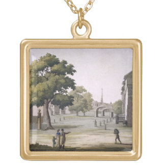 A market square, Philadelphia, Pennsylvania, from Gold Plated Necklace