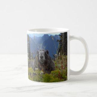 A marmot in Paradise in Mount Rainier National Par Basic White Mug