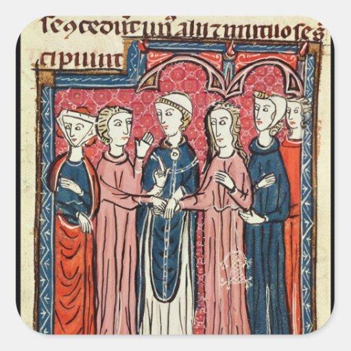 A Marriage, from 'Decrets de Gratien' Square Stickers