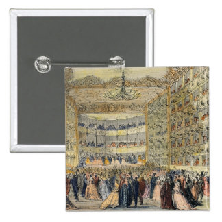 A Masked Ball at the Fenice Theatre, Venice, 19th 15 Cm Square Badge