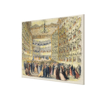 A Masked Ball at the Fenice Theatre, Venice, 19th Canvas Print