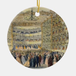 A Masked Ball at the Fenice Theatre, Venice, 19th Round Ceramic Decoration