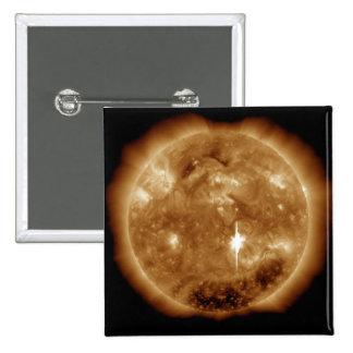 A massive X-class solar flare erupts on the Sun 15 Cm Square Badge