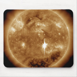 A massive X-class solar flare erupts on the Sun Mouse Pad