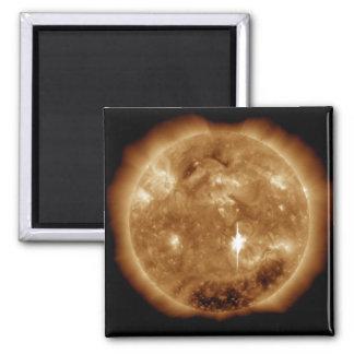 A massive X-class solar flare erupts on the Sun Square Magnet