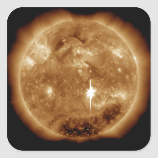 A massive X-class solar flare erupts on the Sun Square Sticker