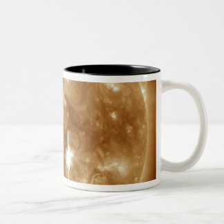 A massive X-class solar flare erupts on the Sun Two-Tone Coffee Mug