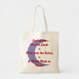 A Match Made in Fanfic Sess/Kag w/Crescent Budget Tote Bag