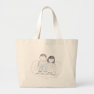 A Match Made in Heaven Canvas Bags