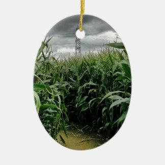 A maze of maize christmas ornament