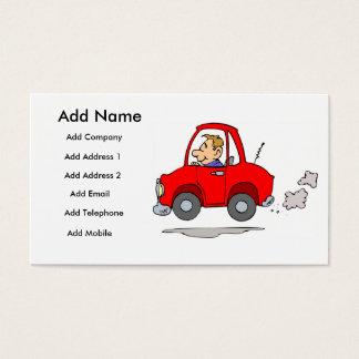 A Mechanics Or Car Salesmans Business/Profile Card