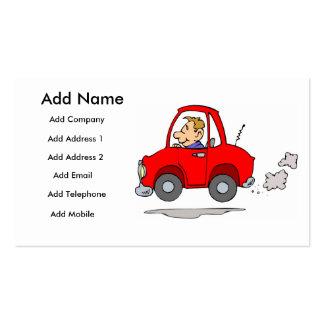 A Mechanics Or Car Salesmans Business/Profile Card Business Card
