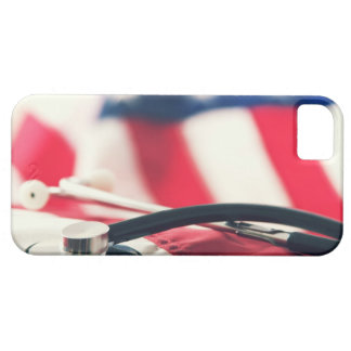 A medical stethoscope with a American flag iPhone 5 Cases