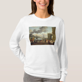 A Mediterranean Harbour Scene T-Shirt
