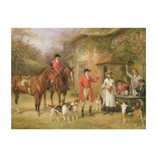 A Meeting at the Three Pigeons Canvas Print