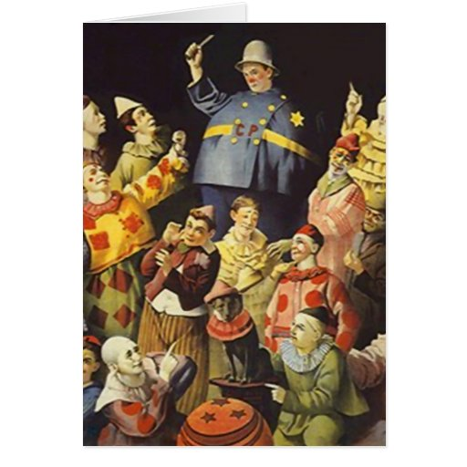 A MEETING OF CLOWNS Office Humor Circus Act 3 ring Cards