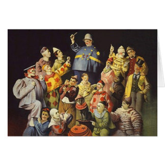 A MEETING OF CLOWNS Office Humor Circus Act 3 ring Greeting Card