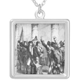 A Meeting of the Irish Volunteers Silver Plated Necklace
