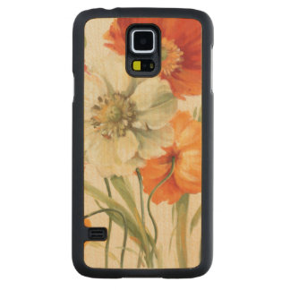 A Melody of Poppies Carved Maple Galaxy S5 Case