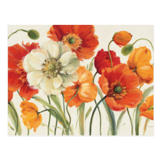 A Melody of Poppies Postcard