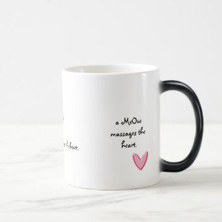a MEOW massages the heart Morphing Mug