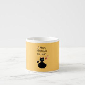 A Meow Massages the Heart 6 Oz Ceramic Espresso Cup