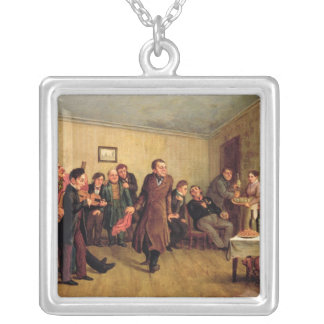 A merchant's evening party silver plated necklace