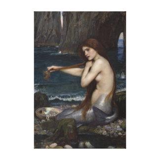 A Mermaid by John William Waterhouse Canvas Print