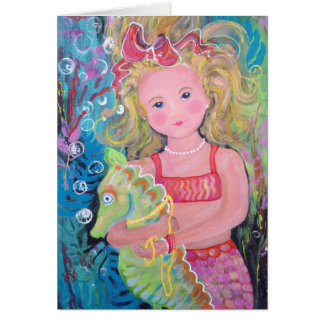 """A Mermaid Named Eva"" Card"