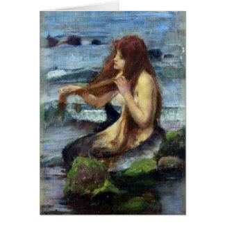 A Mermaid (study) Card