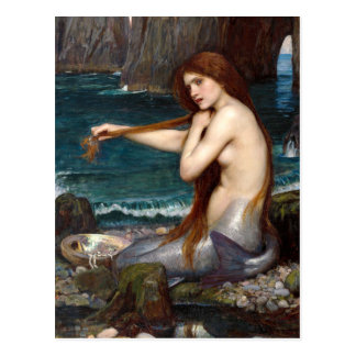 A Mermaid, Waterhouse Post Card