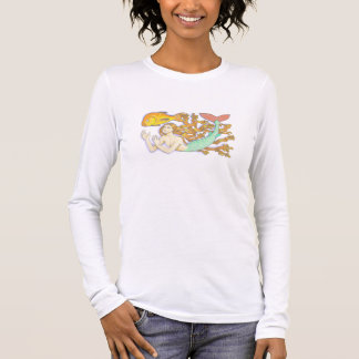 A mermaid with goldfish shirt. long sleeve T-Shirt