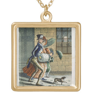 A Merry Christmas and Happy New Year to Ye, Victor Gold Plated Necklace