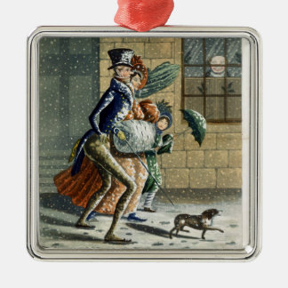 A Merry Christmas and Happy New Year to Ye, Victor Silver-Colored Square Decoration